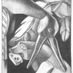 <em>Art Not Food</em>, 1996, charcoal, 24 x 18 inches