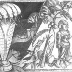 <em>Eve and Yakshi Are Sisters</em>, 1989, charcoal, 30 x 40 inches