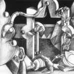 <em>Eve with a Song Led the Animals from Eden</em>, 1989, charcoal, 40 x 60 inches