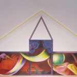 <em>Inside the Ark: As the Flood Rises, Paint a Green Room, Dream a New Sun, 1993-95, front panel, oil on canvas, 69 x 184 inches</em>