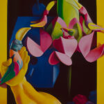 <em>Birds Dream About Flowers</em>, 1992, hand-ground oil on canvas, 60 x 45 inches