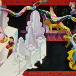 <em>Even Night Is in Color in Eden</em>, 1988, hand-ground oil on canvas, 45 x 60 inches