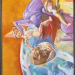 <em>Fly Near the Sun Absorb the Heat, Become the Sun</em>, 1978–1980, hand-ground oil on canvas, 50 x 30 inches