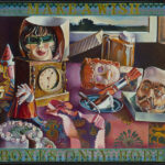 <em>Make a Wish, If Birthday Boxes Only Bore New Persona</em>, 1975–76, hand-ground oil on canvas, 30 x 40 inches