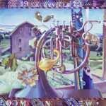 <em>Old Things Bloom in New Hands</em>, 1973, hand-ground oil on canvas, 30 x 40 inches