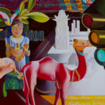<em>The Tree Goddess Returns to New York</em>, 1990–1994, hand-ground oil on canvas, 48 x 64 inches