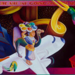 <em>Where Are We Going/Where Have We Been?</em> 1991, hand-ground oil on canvas, 27 x 54 inches