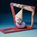 <em>I Surrender Softly to Memory</em>, 1982, polychromed Hydrocal and wood, 17 x 20 x 7 inches