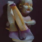 <em>My Doll Had a Broken Finger and I Mended It</em>, 1978–1981, painted Hydrocal, 6 x 15 x 10 inches