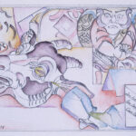 <em>In Letters We Reveal Our Demons</em>, 1978, watercolor, 5 x 7 inches
