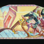 <em>Mother, a Russian Tigress, Stopped Traffic on Jackson Street, Singing Arias in Strange Tongues</em>, 1984–85, watercolor, 22 x 56 inches