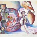 <em>One God for Another, What Price Prosperity?</em> 1977–1978, watercolor 12 x 18 inches