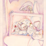 <em>Red Comes to Wolf's Bed and Transforms his Appetite</em>, 1982, watercolor and pencil, 24 x 16 inches