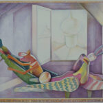 <em>The Attics of Sidilkov Harbour Geese and Secret Winter Dreams</em>, 1985, watercolor, 24 x 36 inches