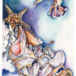 <em>Underwater Is a World Without Picasso</em>, 1977, watercolor and pencil, 24 x 18 inches