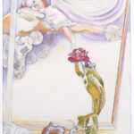 <em>Which Side of the Door of Dreams Do We Enter?</em> 1978, watercolor, 24 x 18 inches